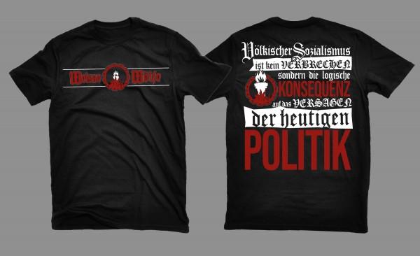Herren T-Shirt Weiße Wölfe - Völkischer Sozialismus Schwarz