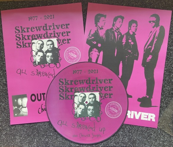 Skrewdriver - All skrewed up + Chiswick Singles 44 years edition Picture LP