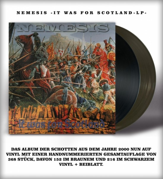 Nemesis - It was for scotland - LP schwarz