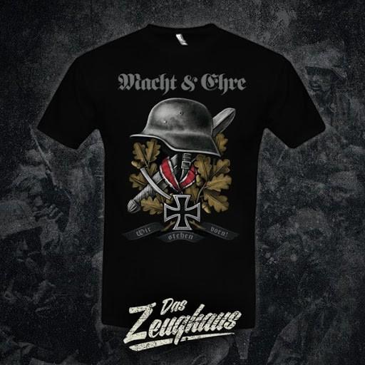 Herren T-Shirt Macht & Ehre - Wir stehen vorn! Schwarz