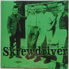 "Skrewdriver- Unbliever 7"" Single grün"