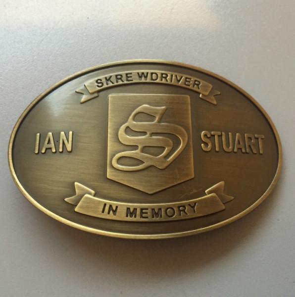 Gürtelschnalle Skrewdriver Ian Stuart