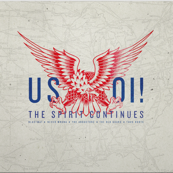 US Oi! The Spirit Continues LP schwarz