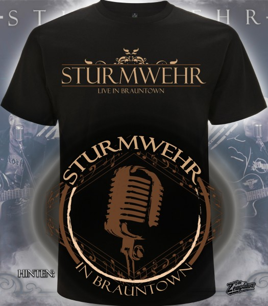 Männer T-Shirt Sturmwehr - Live in Brauntown Schwarz
