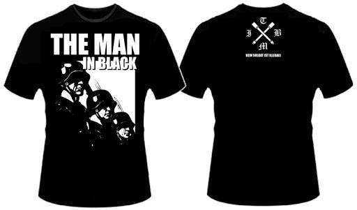 Herren T-Shirt The Man In Black - Kein Soldat ist illegal Schwarz