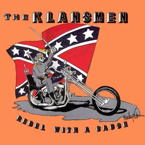 THE KLANSMEN (SKREWDRIVER) – REBEL WITH A CAUSE + BONUS - LP weiß