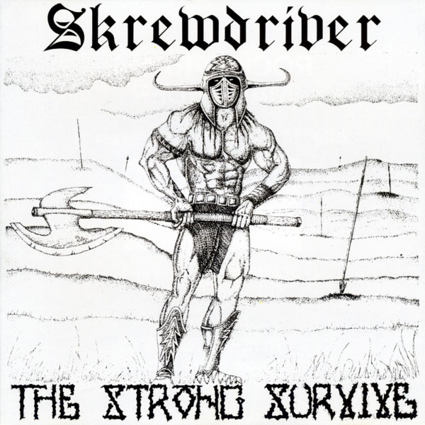 Skrewdriver - The strong survive LP blau