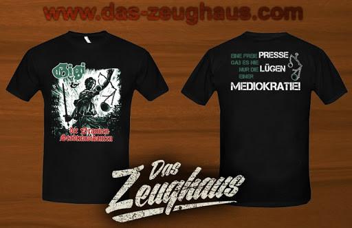 Männer T-Shirt Gigi & die braunen Stadtmusikanten - Mediokratie