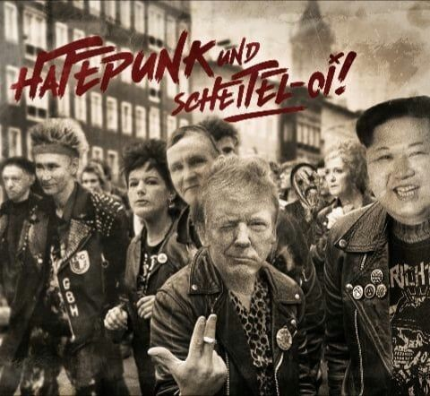 RIEN NE VAS PLUS & KRIEGSBERICHTER - HATEPUNK UND SCHEITEL- OI! - DOPPEL DIGIPAK CD