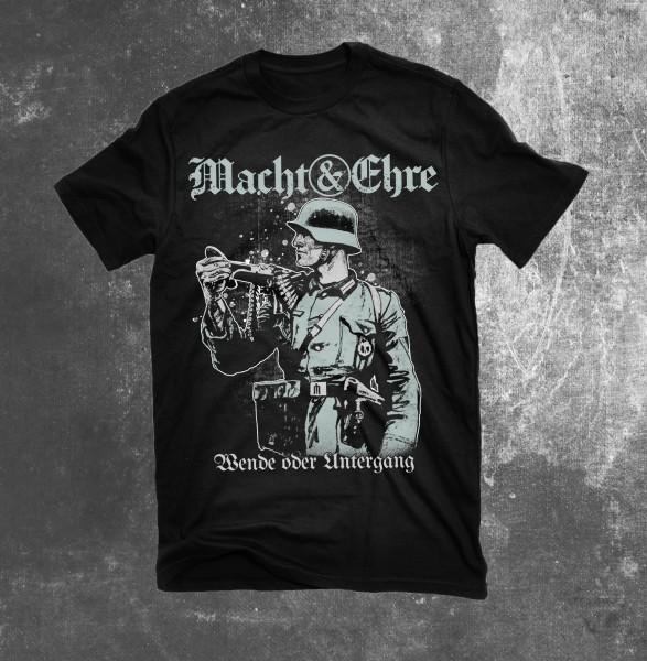 Männer T-Shirt Macht & Ehre - Wende oder Untergang Schwarz