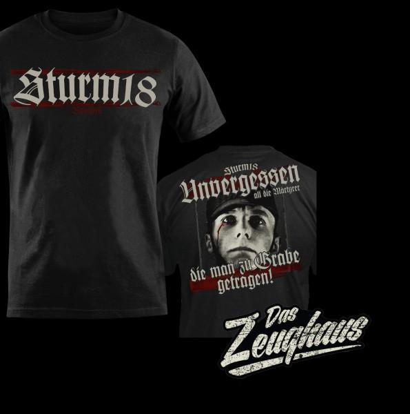 Männer T-Shirt Sturm 18 - Unvergessen Schwarz