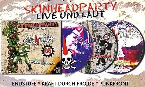 Skinheadparty - Live und laut - Endstufe KDF Punkfront Digipak Doppel CD