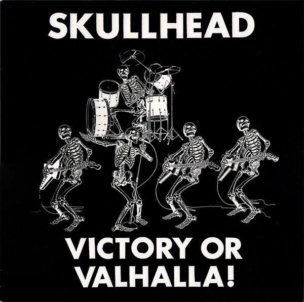 SKULLHEAD - VICTORY OR VALHALLA - LP weiß